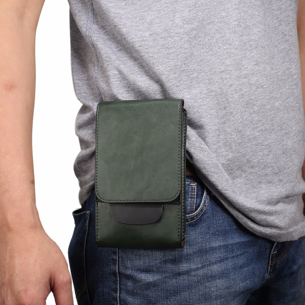 Universal Belt Pouch Wallet Phone Case Cover 3 Pockets For Samsung S9 S8+ Note 8 iPhone X 7 8 Plus