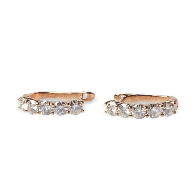 6be0250adada7 TransGems 1 CTW Moissanite Lab Grown Diamante Dangle Brincos de Argola de Ouro  Amarelo Sólido Jaqueta