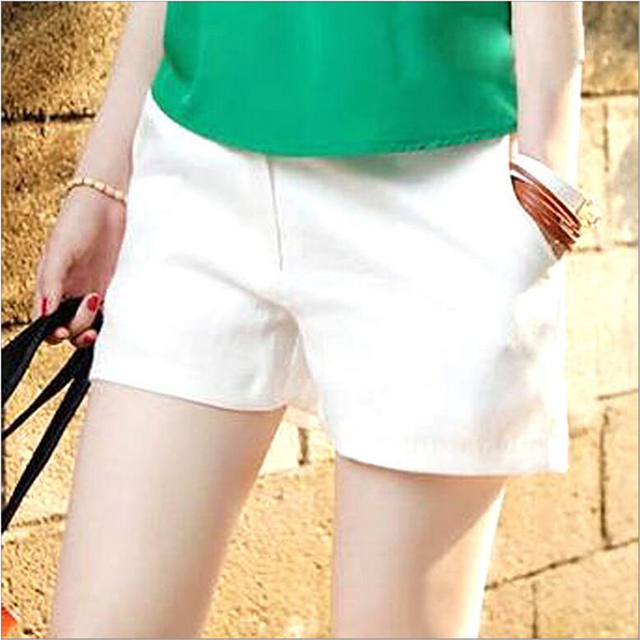 Free Shipping Women Fashion Candy Colors Elastic Waist Drawstring Cotton Shorts For Female Casual Short Pants