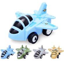 Мультяшный мини откатный маленький летательный аппарат детская имитация Fightback Fighter модель игрушки детские игрушки игрушечные самолеты Diy игрушки