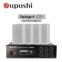 Oupushi Дом Музыки Системы 60 Вт MP3 Усилители домашние Bluetooth FM плеера с 2 пути стены Колонки
