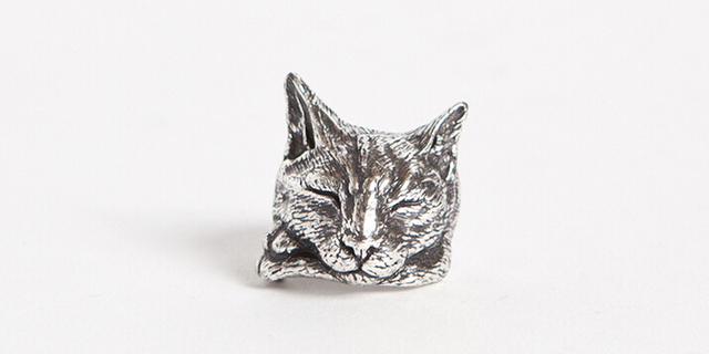 Único Boho chic hecho a mano Retro gato perezoso anillo Lanmao anillo femenino y masculino regalo para los amantes de las mascotas Idea -- 12 unids/lote (3 colores gratis)