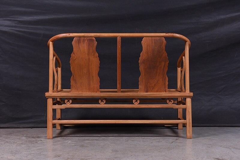 1+ 3 сиденья 6 шт. тройной набор стульев китай Королевский палисандр мебель гостиная твердой древесины диван-кровать костюм красный из сандалового дерева чайная столик - Цвет: Double Chair