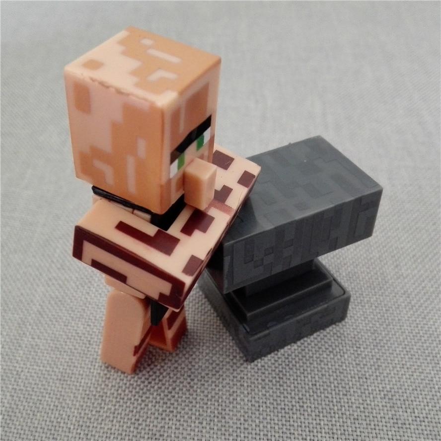 1 bag Free shipping wholesale <font><b>Minecraft</b></font> <font><b>villager</b></font> building block <font><b>Blacksmith</b></font> with workbench <font><b>action</b></font> <font><b>figures</b></font> toy gift for children