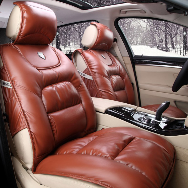 Pu Leather Winter Car Seat Cushion Full Thick Seats Cushions For Skoda Keep Warm Covers Elantra In Automobiles From
