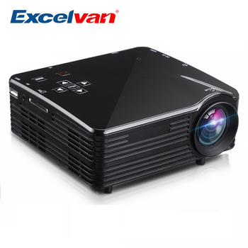 Excelvan LED1018 Mini Portable LCD Projector With HDMI USB VGA AV SD Multimedia Interfaces Support 1080P For Movie Home Cinema digital clock