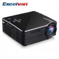 Excelvan LED1018 Mini projecteur LCD Portable HDMI USB VGA AV SD Interfaces multimédia Max 1080P film Home cinéma PK YG300 YG310