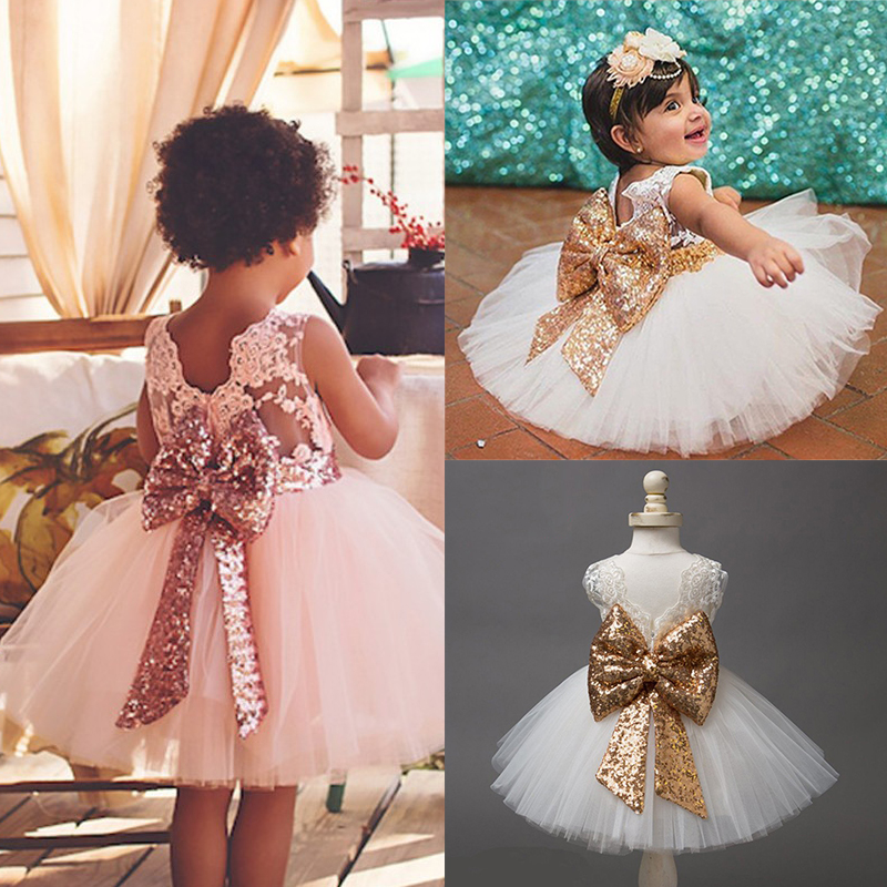 Dress Birthday-Party Baptism Christening-Dresses Girls Infant 1-5-Years Wear 1st Tutu-Gown title=