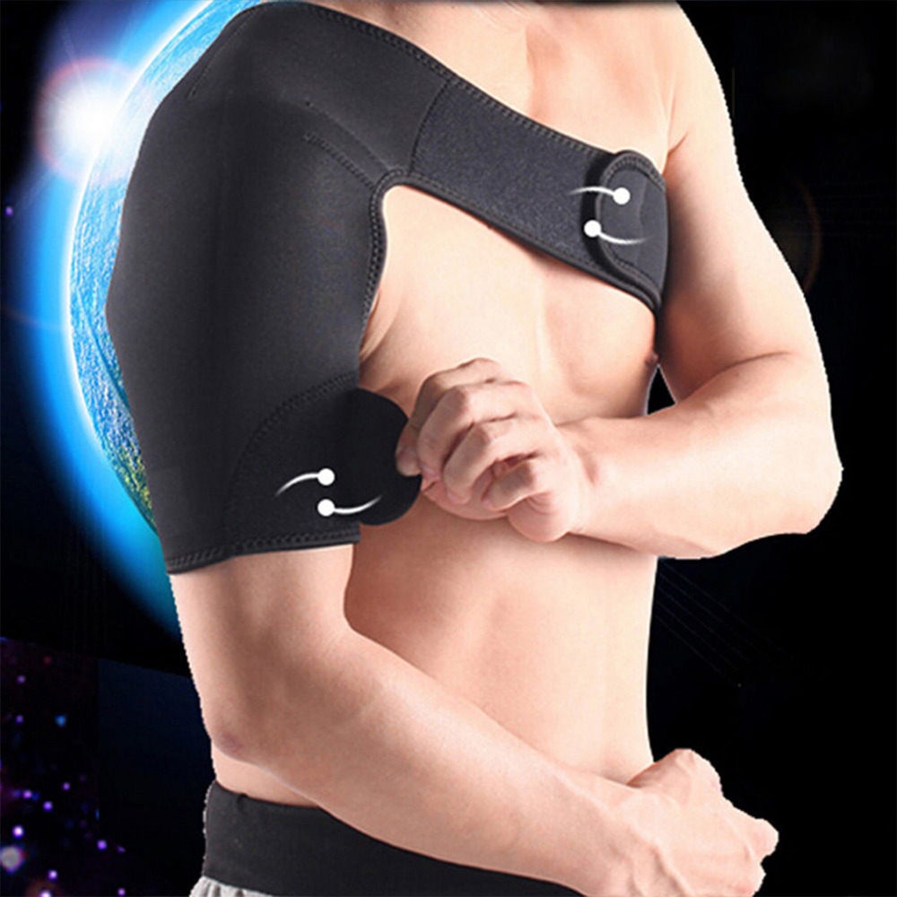 Neoprene Brace Dislocation Arthritis Pain Magnetic Shoulder Support Strap right arm Wholesale right and left health care цены онлайн