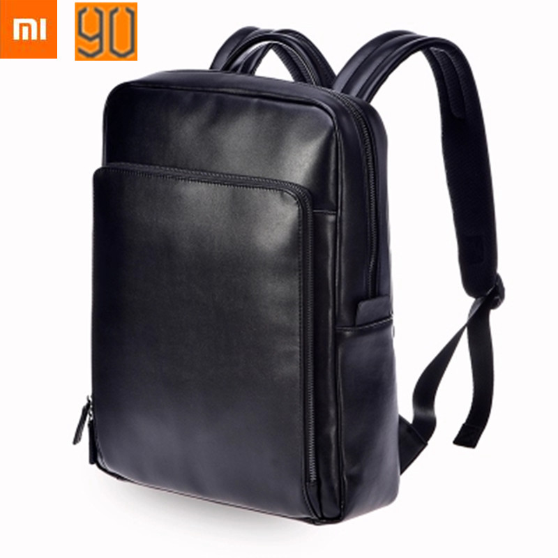 New Xiaomi Leisure PU Backpack Large Capacity business computer bag Men Women Travel Laptop Backpack for 14 inches of computer ly12014the new leisure backpack hiking backpack shoulders laptop bag male or female capacity students bag fashion women backpack