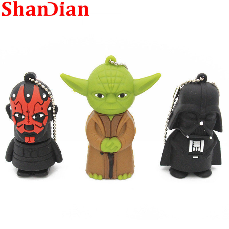 Image 5 - SHANDIAN hot sale cartoon flash memory card with usb 4GB 16GB 32GB 64GB Star Wars Robot all styles USB 2.0 Pen drive pendriver-in USB Flash Drives from Computer & Office