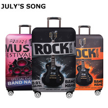 JULY'S SONG Luggage Protective Cover For 18 to 32 inch Fashion Music Trolley Suitcase Elastic Dust Bags Case Travel Accessories hot fashion traveling on the road suitcase case protective case cover trolley bus case trip suitcase dust cover for 18 to 32 inc