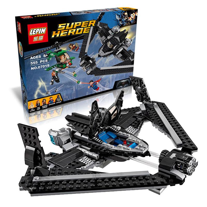 07019 LEPIN 555Pcs Avengers Super Hero Batman VS Superman Model Building Kits Minifigures Blocks Bricks Toys Compatible