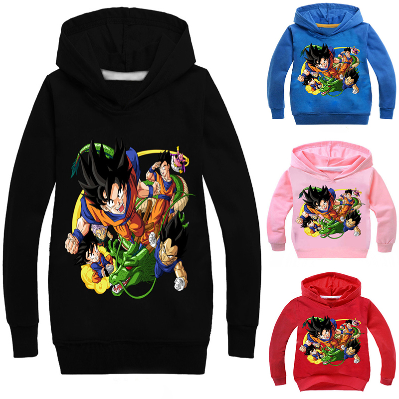 Anime Childrens Wear Cartoon Dragon Ball Z Hoodies Girls Boys Hoodie Hoody Casual Coat Sweatshirts Hooded Casual Coat Kid Gift