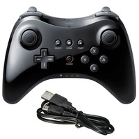 Wireless Game Controller STOGA Black Classic Gamepad Joypad Remote For Nintendo Wii U Pro