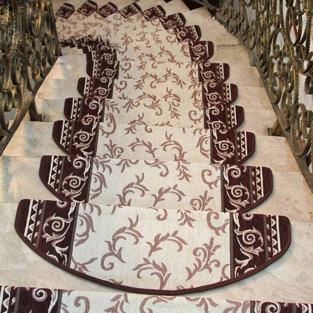 Yazi 13pcs Classic Stairs Mat Warm Safe Non Slip Self Adhesive At Amp T Merlin Cat5e Jack Wiring European Soft Rug Living Room Stairway Washable 2 Size