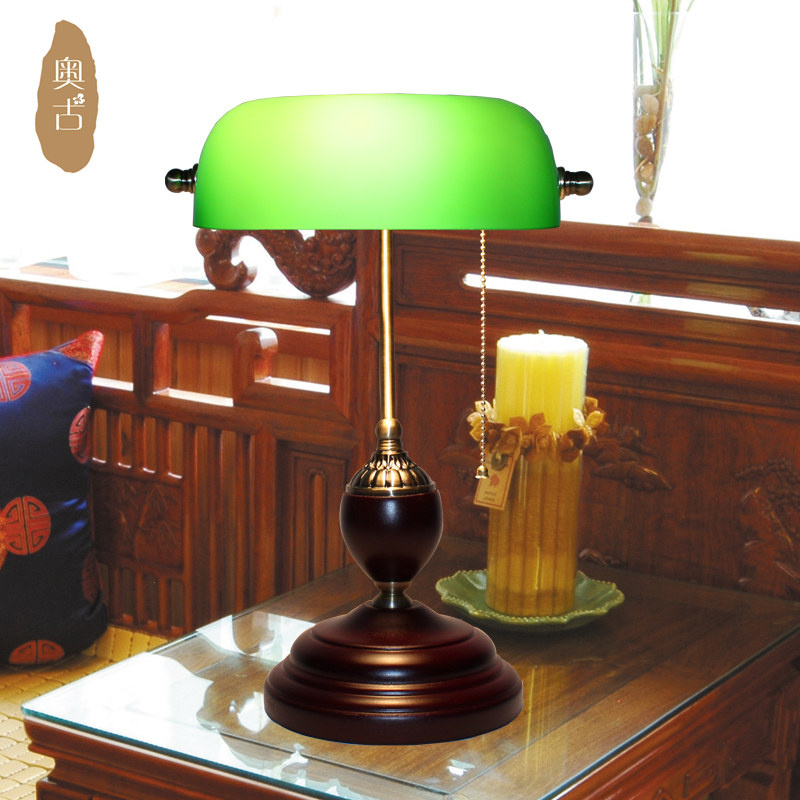 Nice Chiang Bank Lamp Light Retro Green Cover American Office Desk Lamp Retro  Lamp Republic Lamp Specials