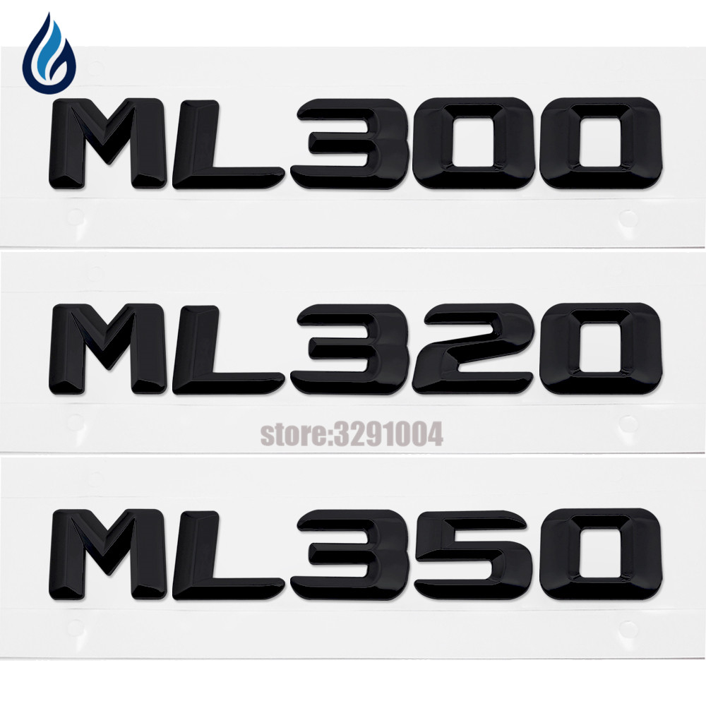 Chrome ABS Car Trunk Rear Number Letters Badge Emblem Decal Sticker For Mercedes Benz W163 W164 W166 ML300 ML320 ML350 door mirror turn signal light for mercedes benz w163 ml270 ml230 ml320 ml400 ml350 ml500 ml430 ml55