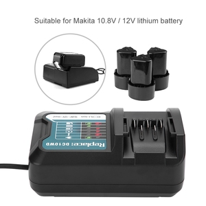 Image 2 - Fast Charging Lithium Battery Charger for Makita 10.8V 12V DC10WD/DC10SB/DC10WC/BL1015/BL1016/BL1021B/BL1041B 100 240V Charger