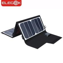 Elegeek 20 Вт 5 В складной Панели солнечные Зарядное устройство Портативный Dual USB Выход высокая эффективность sunpower Панели Солнечные для мобильного телефона 5 В устройства