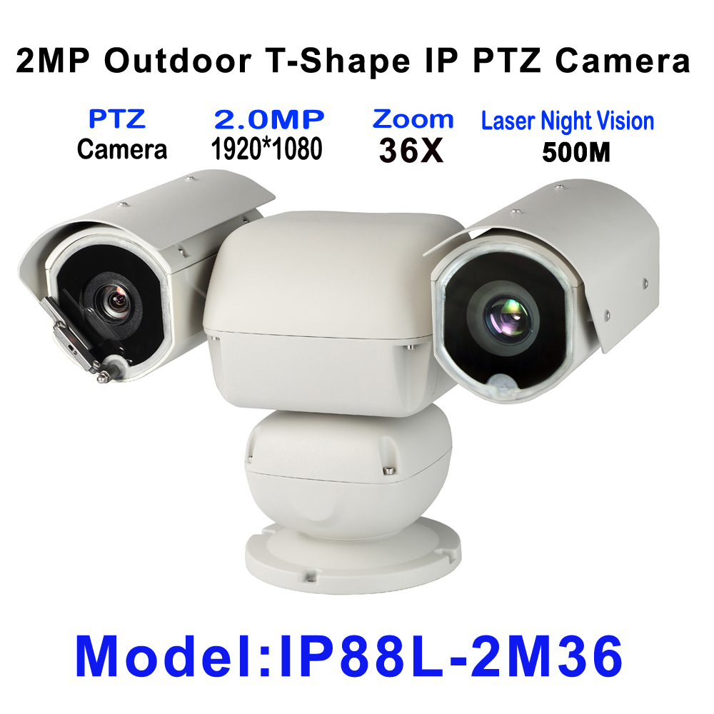 High Quality Laser IR 500M IP PTZ Camera Onvif 4.6-165.6mm Lens 36X Optical Zoom For Harsh environment Security Surveillance high quality laser ir 500m ip ptz camera onvif 4 6 165 6mm lens 36x optical zoom for harsh environment security surveillance