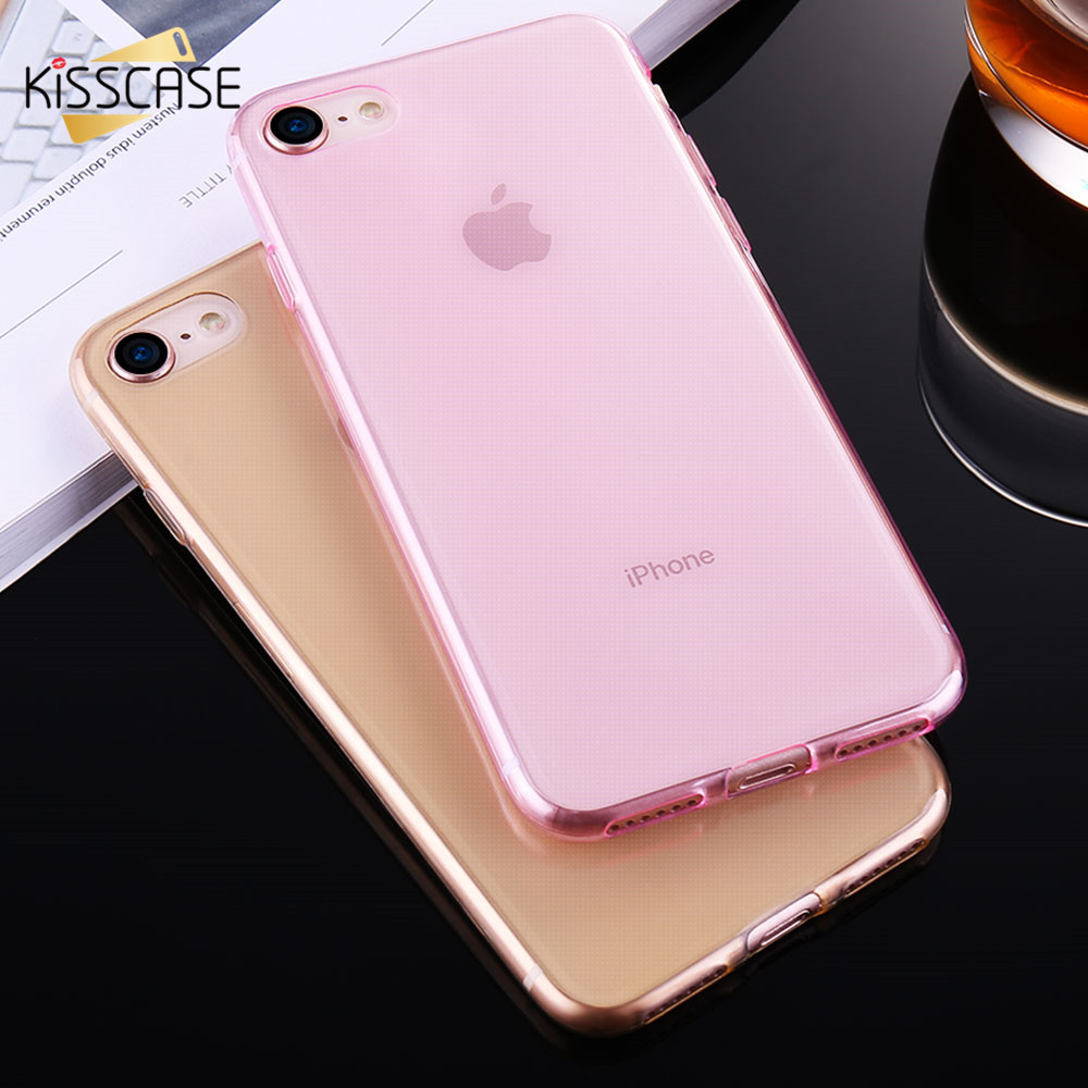 KISSCASE Ultra Thin Silicon Gel Soft Case For iPhone 6 6s Plus Cover ...