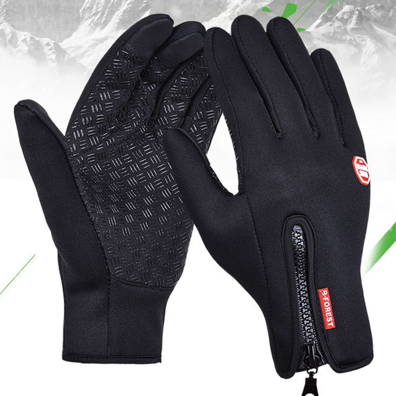 Waterproof Winter Warm Gloves Windproof Outdoor Gloves Thicken Warm Mittens Touch Screen Gloves Unisex Men Cycling Glove