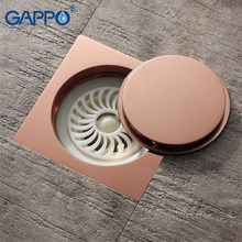 GAPPO Drains douche floor drains vierkante douche floor cover antiek messing chrome stekkers badkamer drain stopper(China)