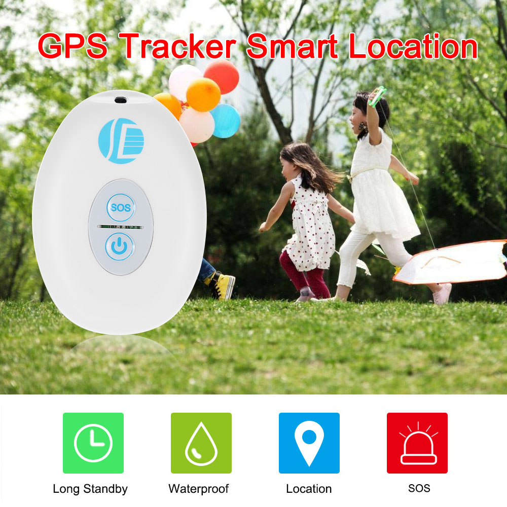 Mini GPS Tracker Waterproof Smart Location Free APP for Kids Pet GPS Tracker