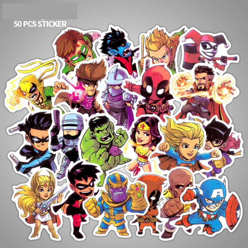Cartoon Marvel Stickers Laptop Skateboard Dragon Ball Sticker Lot Luggage Graffiti Waterproof Stickers Pack Classic Toys
