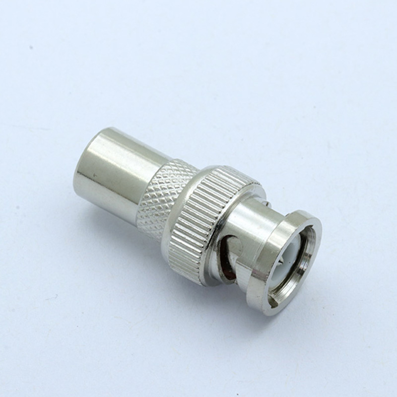 100pcs//lot BNC Male to PAL Male Connector BNC Male Plug to IEC PAL DVB-T Male Plug Straight Coaxial Connector for CCTV Camera