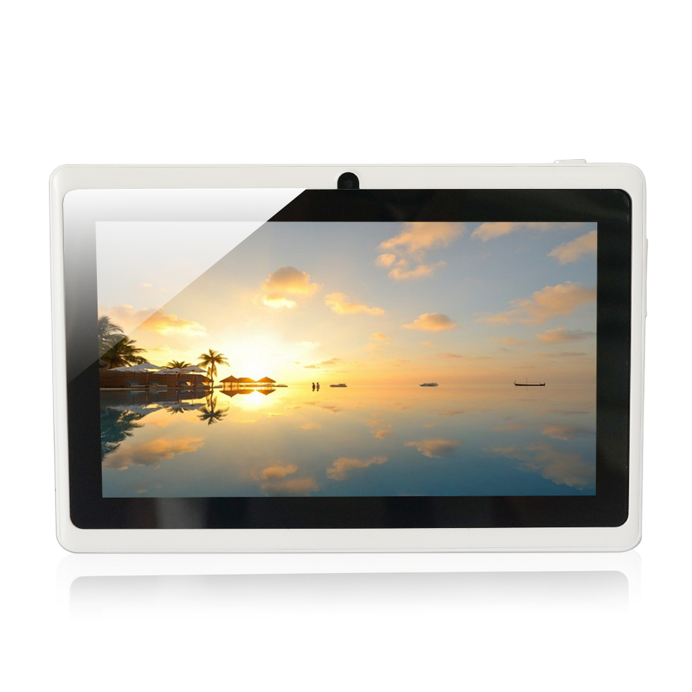 Tablet PC AllWinner A33 Q88 7 inch Quad Core Android 4.4  RAM 512MB ROM 8GB Front Camera WiFi/dual camera levy dal q88 7 android 4 1 tablet pc w 512mb ram 8gb rom dual camera white