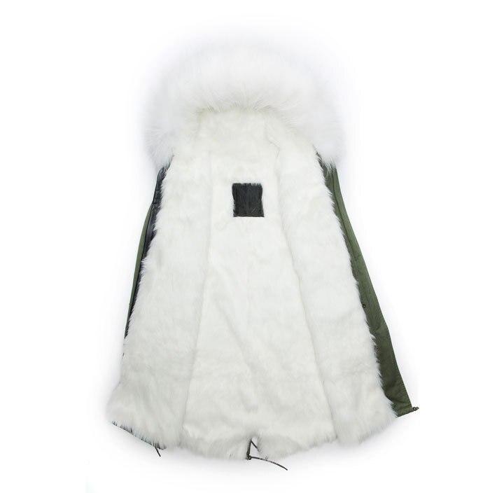 f38dc216afc4 Real raccoon collar faux fox fur lined hooded parka winter mens outwear long  jacket white long MR MRS fur prka coat