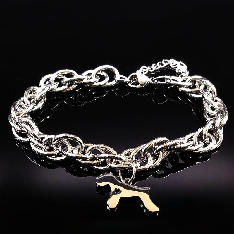 2017 Silver Color Pokemon Stainless Steel Bracelets Women Schnauzer Bracelet Jewelry Christmas Gift pulseras mujer moda B17901