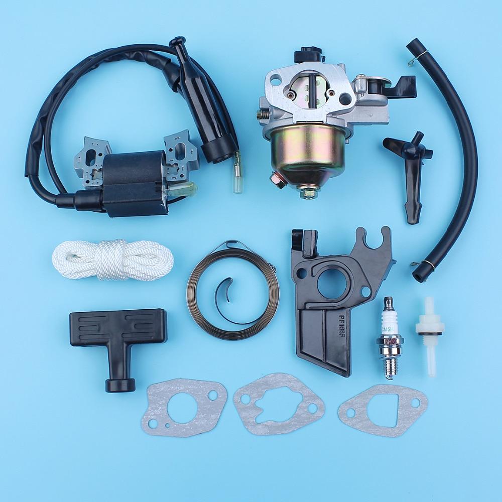 Tools : Carburetor Ignition Coil Choke Rod Starter Spring Grip Gasket Kit For Honda GX160 5 5HP GX200 6 5HP 168F 170F Engines Generator
