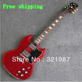 Free shipping G -custom shop SG Standard Lightly Aged Electric Guitar Vintage Red