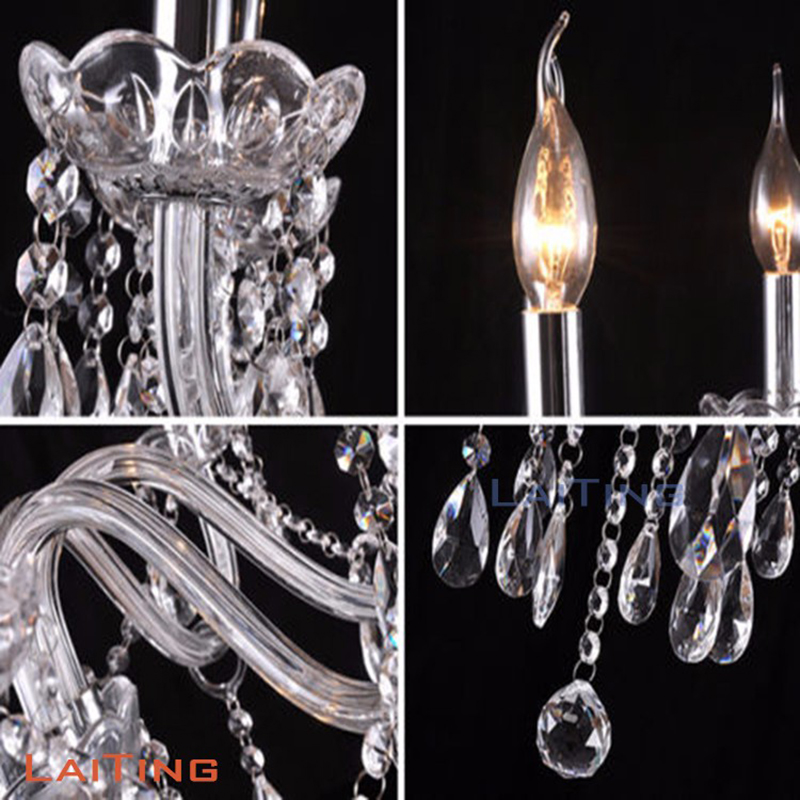 Interior Glass Arm Chandelier Lamps for Marriage Wedding Decoration Free Shipping in Chandeliers from Lights Lighting