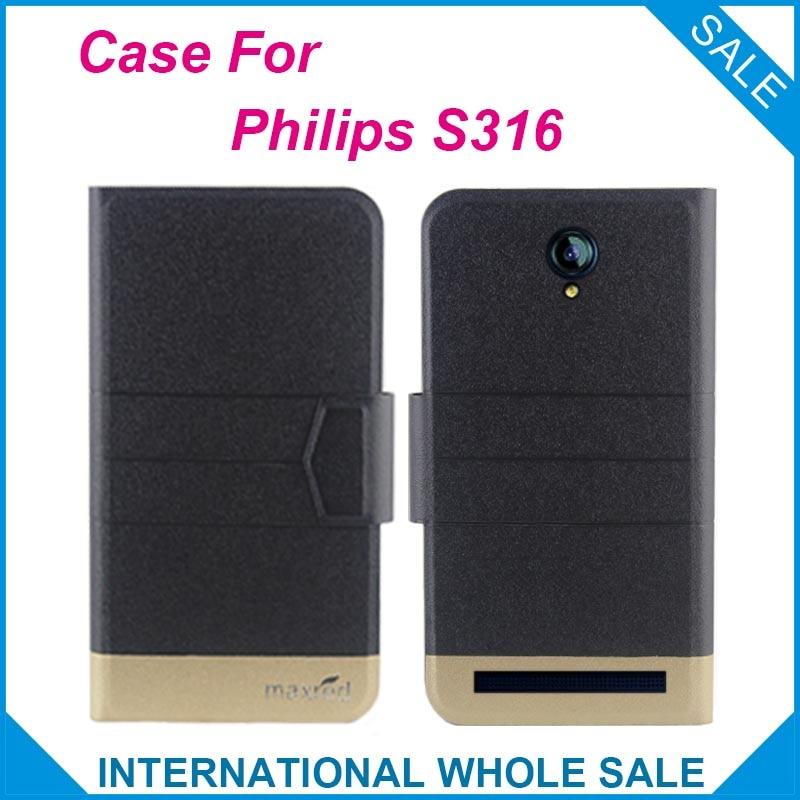 6a8c1010e 5 Cores Quentes! para o Caso Philips S316 Novos Negócios de Moda fecho  Magnético Ultrafinos Estojo De Couro Da Aleta Para Philips S316