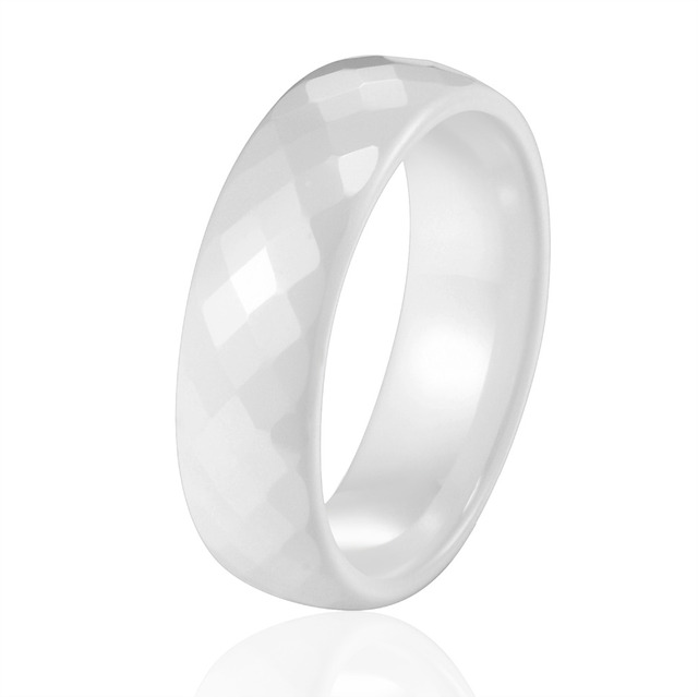 New Arrival Wide 4mm And 6mm Black And White Color Multiple Sections Ceramic Ring Wedding Women Rings Cute Simple Unique Design