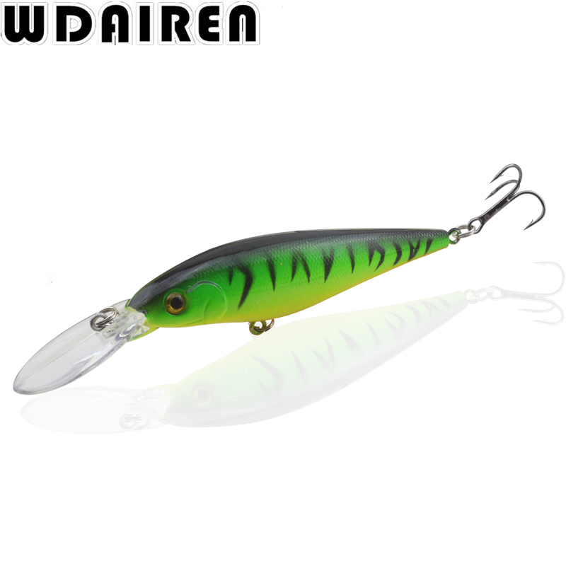 WDAIREN 11cm 10.5g Hard Bait Winter Fishing Lure Minnow ice sea Fishing Tackle kit jig wobbler lures jerk bait Crankbait Peche new 12pcs 7 5cm 5 6g fishing lure minnow hard bait sea fishing tackle crankbait fishing kit jig wobbler lures bait with hooks