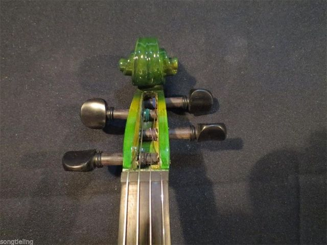 Green Acoustic & Electric Violin 6