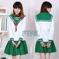 [FTWL] Anime Inuyasha Cosplay Higurashi Kagome Costumes School Uniform Dress