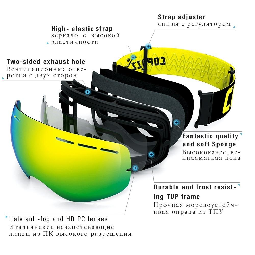 Ski Goggles Men Women Snowboard Goggles Glasses for Skiing UV400 Protection Skiing Snow Glasses Anti-Fog Ski Mask