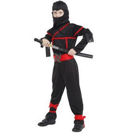 New Ninja Costumes Halloween Party Boys Girls Warrior Stealth Children Cosplay Assassin Costume Children's Clothes Suit