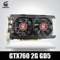 비디오 카드 Veineda GTX760의 2 기가바이트 Gddr5256 비트 6004 백만헤르쯔 DVI HDMI 강한 GTX950, GTX750Ti
