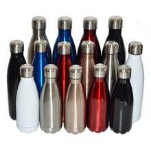 Vakuumflasche Thermosflasche Isolierte Edelstahl Sports Wasserflasche dicht Ideal für Kaffee Tee Kalt Heiße Getränke