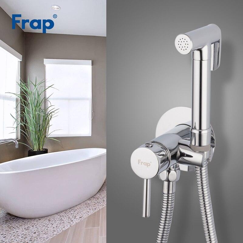 Frap Bidet Faucet Bathroom Bidet Shower Set Faucet Toilet Bidet Muslim Brass Wall Mounted Washer Tap Cold And Hot Mixer F7505-2