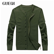 GUEQI Brand Men Casual Cardigan Coats Plus Size M-3XL Single Breasted Army Green & Black Man Autumn Knitted Sweaters