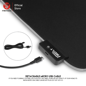 Image 3 - FANTECH MPR800S RGB Large Mouse Pad Profession USB Cable Mousepad Smooth Surface With Locking Edge For FPS LOL Gaming Mive Pad