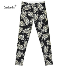 Leggings 2016 Fashion Plus Size lovely shoes Sexy Extra-terrestrial Digital Printing Fitness LEGGINGS S-4XL Drop Shipping